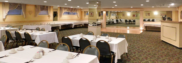 Banquet room at Rose Garden Cafe Restaurant in Elk Grove Village