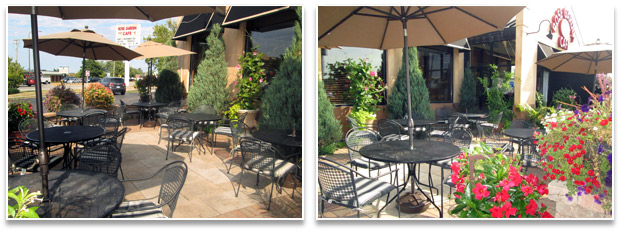 Outdoor Cafe at Rose Garden Cafe restaurant in Elk Grove Village